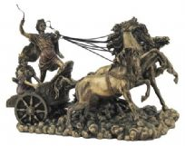 Apollo In His Chariot with Nike Statue Bronzed and Colonel Sculpture